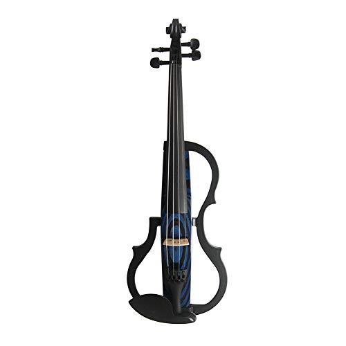QING.MUSIC Stringed instrument Vorgerückte elektrische Violine 4/4 elektrische Violinen Berufsleistungszusätze: Fall, Bogen, Kolophonium, Streicher, Kopfhörer,N009
