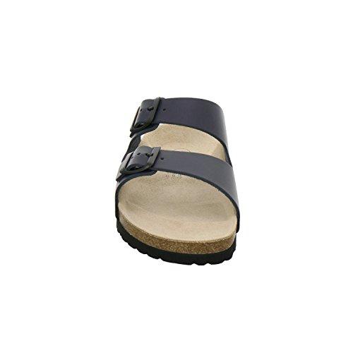 AFS Arbeitsschuhe bequeme f眉r Damen echtes Herren Hausschuhe Leder Schuhe praktische Pantoletten und 3100 Navy hochwertiges rF1qrv
