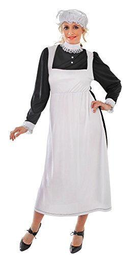 9viktorianischen Maid Erwachsene Kostüm, Größe 10–14 (Viktorianischen Diener Kostüme)