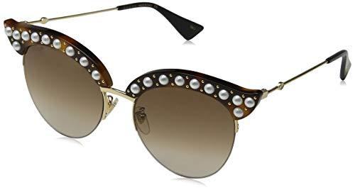 Gucci Damen GG0212S 002 Sonnenbrille, Braun (2/Brown), 53