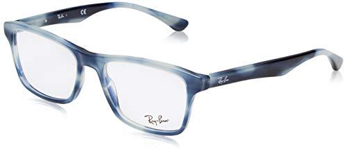 Ray-Ban Herren 0rx 5279 5773 55 Brillengestelle, Blau (Horn Grey Blue),