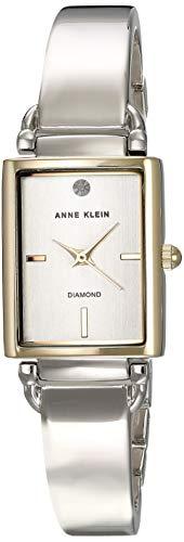 Anne Klein Classic Reloj de Mujer Cuarzo Correa y Caja de Acero AK/2495SVTT