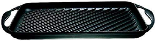 Le Creuset rechteckig Grillplatte, Gusseisen, schwarz, 33 cm