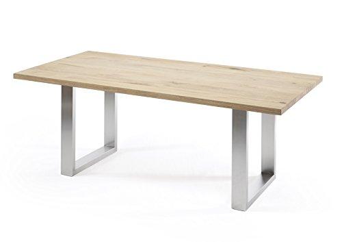 Holzwerk Esstisch Wildeiche Massivholztisch 180x100 Echte 4cm Dick Tisch Neu OVP Gerade Kante (180x100)