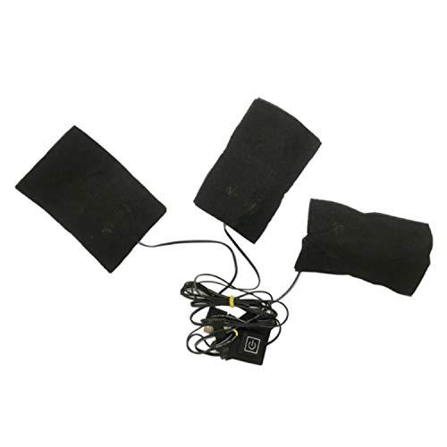 Heizkissen,Heating Pad,Wasserdichte 3 in 1 Einstellbare USB Elektrische Heizung Beheizte Kleidung Pad Kohlefaser Wärmer Pads für Kleidung Outdoor Winter Camping