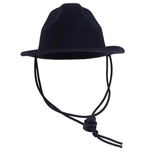 POPETPOP Popopopp Hut für Hunde und Katzen, Cowboyhut, Cosplay-Kostüm, Schwarz - Hund Cowboy-hut Kleiner