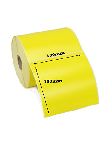 label Metrics 10.000100mm x 100mm gelb Thermodirekt Etiketten