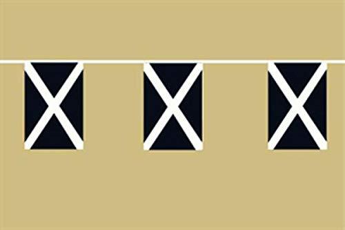 Memorabilia Fahnen Flagge Flaggenkette Schottland 6 Meter Lang