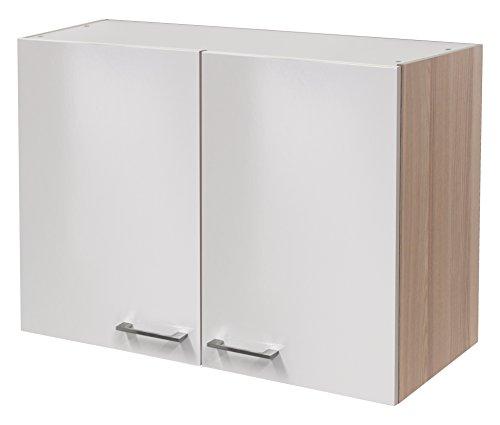 Flex-Well 00007137 Oberschrank Abaco Perlmutt glänzend, Akazie 80 x 54,8 x 32 cm