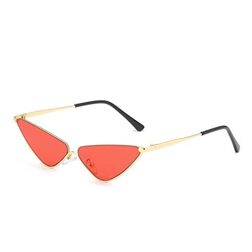 Jeewly Klassische Sportsonnenbrille, Women Semi-Rimless Cat Eye Sunglasses K9972