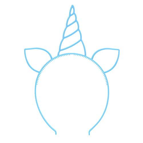 Kostüm Kleinkind Für Tanzabend - Fudeza Brandneu Einhorn Stirnbänder Party Aufmerksamkeiten Vorräte Katze Ohr Stirnbänder Mädchen Plastik Hupe Haarbänder für Cosplay Party Geburtstagsparty Halloween Weihnachten - Blau