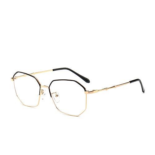 Blaues Licht, das Gläser blockiert, Anti-Blendung-Müdigkeit, die Kopfschmerzen blockiert, Auge-Belastung, Schutzbrille für Computer/Telefon, Vintage Rechteck schwarzer Rahmen, transparente Linse-