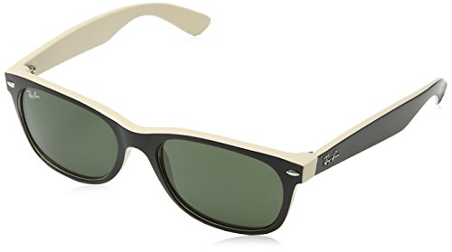 f6600bff6f9769 Ray-Ban Unisex-Adults New Wayfarer Plain Sunglasses, Multicolored  (Black Beige