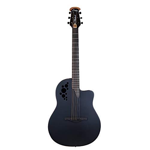 2019 Neue Volksgitarrenbox Gitarrenfurnier Schallloch Traubenloch Runde Rückplatte 41 Zoll Elektroakustische Akustische Gitarre,Standard