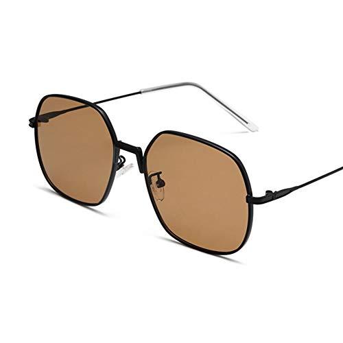 YHgiway Fashion Square Frame Sonnenbrillen für Frauen-Rose rosa/Clear Shades Lens mit UV400 Schutzgläsern YH6875,Black/Brown