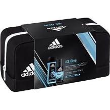 Adidas Ice Dive Deodorante Body Spray + Shower Gel + Toiletry Bag, 400ML