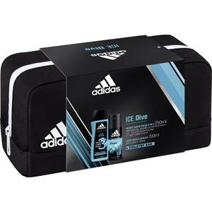 adidas Ice Dive Deodorant Body Spray + Shower Gel + Toiletry Bag, 400 ml