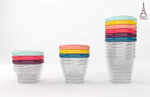 Babymoov Babybols Aufbewahrungsbehälter für Babynahrung – Multi-Set 15-teilig (3 x 120 ml + 3 x 180 ml + 6 x 250 ml + 3 flexible Löffel), hermetischer Drehverschluss - 3