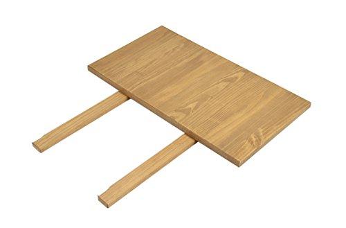 Naturholzmöbel Seidel 2 Ansteckplatten 40x80cm für Esstisch Rio Bonito 120x80, 140x80, 150x80 und 160x80cm, Pinie Massivholz, geölt und gewachst, Tisch Farbton Honig hell