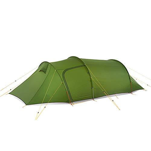 XUMENG Tunnel Zelt 2-4 Personen Ultraleichte Camping Zelt Wasserdicht 4 Saison Kuppelzelt Sofortiges Aufstellen für Trekking, Outdoor, Festival, mit kleinem Packmaß,Grün -