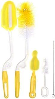5pcs/set Multifunctional Sponge Cleaning Tool Cup Bottle Straw Brush Baby Feeding Nipple Brush Feeding Bottle Washing Cleane