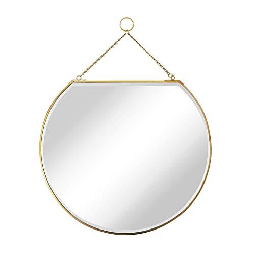 ACZZ Skandinavische Goldene Messing Kupferlegierung Spiegel Modernen Hintergrund Weste Kosmetikspiegel Wandbehang Badezimmer Dekorative Spiegel Kommode Ornament - Laguna-schlafzimmer-möbel