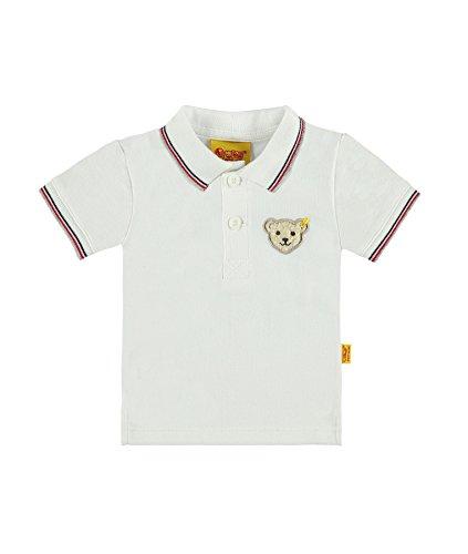 Steiff Baby-Jungen Poloshirt 1/4 Arm, Weiß (Bright White 1000), 86