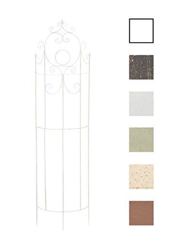 CLP Treillis de Jardin pour Plantes Grimpantes Lavendel en Fer Solide | Tuteur de Jardin Mural Dimension 200 x 53 cm | Support Résistant Idéal pour Toutes Les Plantes Grimpantes Blanc
