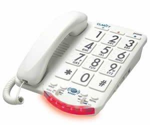 Clarity JV35W Cordless Landline Phone (White)