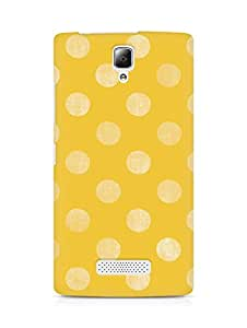 Amez designer printed 3d premium high quality back case cover for Lenovo A2010 (Pattern Yellow)