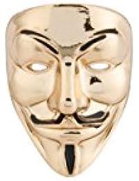 Knighthood Golden Anonymous Mask lapel pin