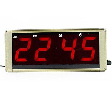SUNNY KEY-Clock@Ultra large display LED digital wall clock metal case plug for frozen alarm clock led electronic table clock