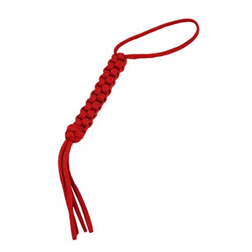 Lanière de Couteau en Paracord(corde de parachute) Tissage Carrée Rouge --Décoration de Couteau,Lampe de poche, Porte-clés,etc.