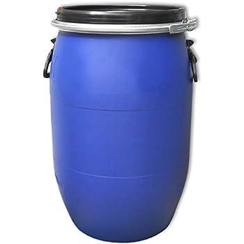 2x30DGM 2 x 30 Liter blau Kunststoff Fass Deckelfass 2 Griffmulden
