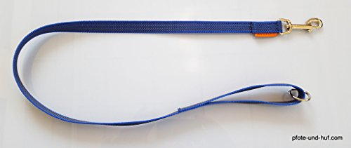 Artikelbild: elropet Gummierte Hundeleine 1m mit Handschlaufe u. Ring blau