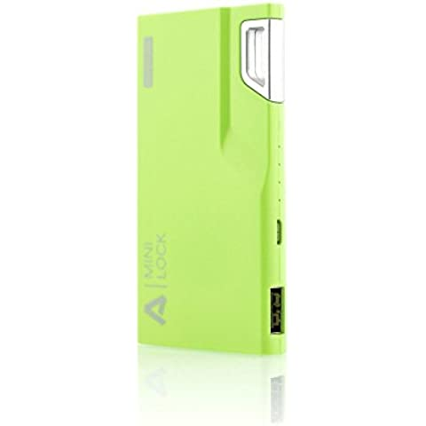 Aukey PB-09-AYES-V - Batería externa de 3000 mAh, color verde