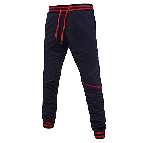 58b29f38b Bestow-pantalones de chándal para Hombres Pantalones Deportivos para Hombres,  Costuras con Cremallera,