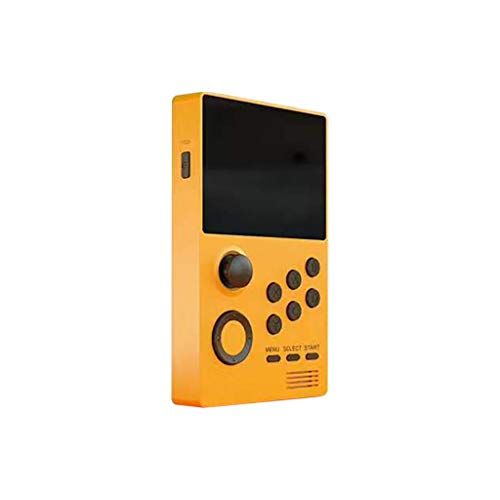 HSKB Handheld Spielkonsole, Konsole Spielkonsole Classic Portable Retro Game Player Game Screen 4,3 Zoll Mini Family TV Games für Junge und Mädchen Geschen Toys (Gelb)
