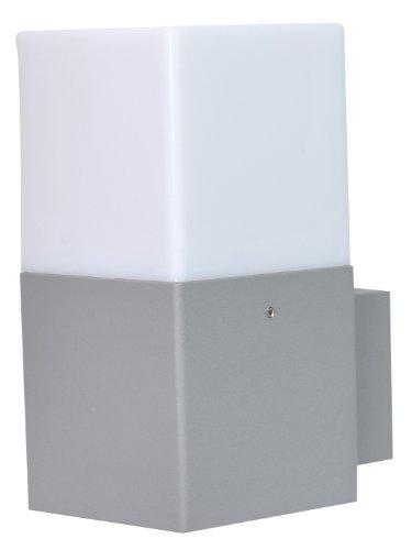 Trio Leuchten LED Außen-Wandleuchte, Aluminiumguss, inklusiv 1 x E14, 4 W, Höhe 17 cm, titan 220060187 (Aluminium Outdoor Wandleuchte)