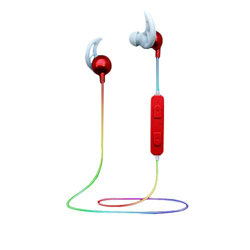 EUCoo V4.1 Auriculares Bluetooth Deportivos Color Iluminación Inteligente Auricular Bluetooth In Ear