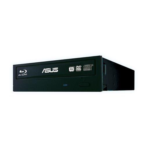 Asus BW-16D1HT Silent interner Blu-Ray Brenner (16x BD-R (SL), 12x BD-R (DL), 16x DVD±R), Bulk, BDXL, Sata, Schwarz