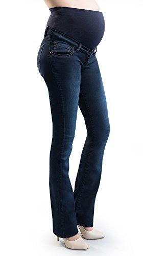 f7bfe75113d4e MAMAJEANS Jeans Premaman Svasato Super Elastico Zampa di Elegante