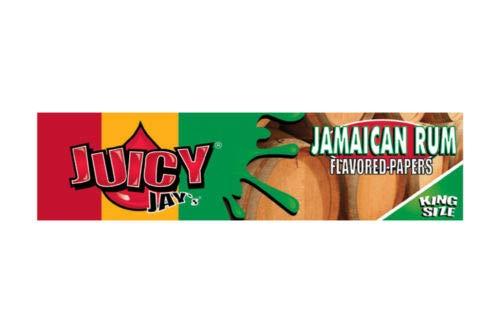 (Juicy Jay´s Slim King Size Drehpapier Verschiedene Sorten - 3 Hefte je 32 Blatt (Jamaikanischer Rum) von ABAV)