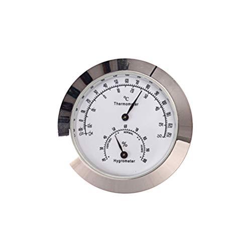 SUPVOX termometro Tondo igrometro misuratore di Temperatura dell\'umidità per Violino Custodia per Chitarra Strumento di monitoraggio della Cura Strumento Strumento b103 (Argento)