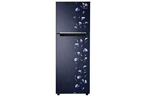 Samsung 253 L 2 Star Frost Free Double Door Refrigerator(RT28M3022UZ/HL, Blue, Inverter Compressor)