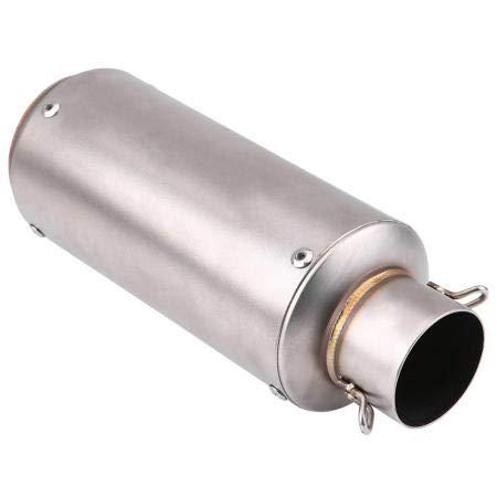 Qiilu ql05846 silenziatore di scarico universale per moto in acciaio inox terminale a tubo argento