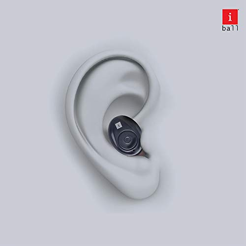iBall EarWear TW10 in-Ear Bluetooth Wireless Headphones with Protective Charging Case, Black Image 7