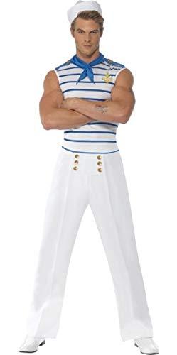 Seemann Marine Kostüm - Fancy Me Erwachsene Herren Sexy Französisch