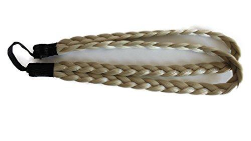 Geflochtener Doppelt ZOPF Haarteil Zopf Haarband Stirnband diverse Farben (doppelt, hell blond (#88))