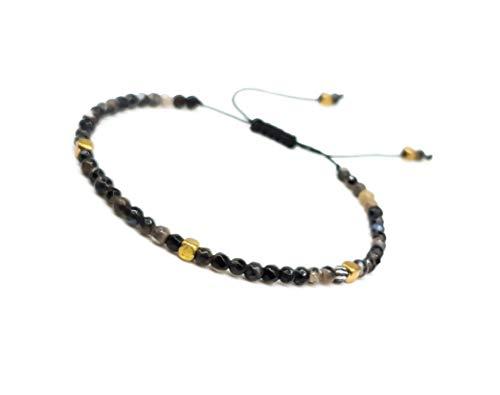 Imagen de mister boncuk 's filigrane handmade macramé pulsera para mujer de ágata natural piedras ideal como regalo